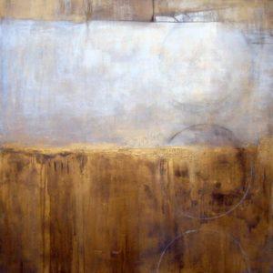 """""""Gold & Ivory"""" / Acrylic / 36"""" X 36"""" / 2012 / $750"""