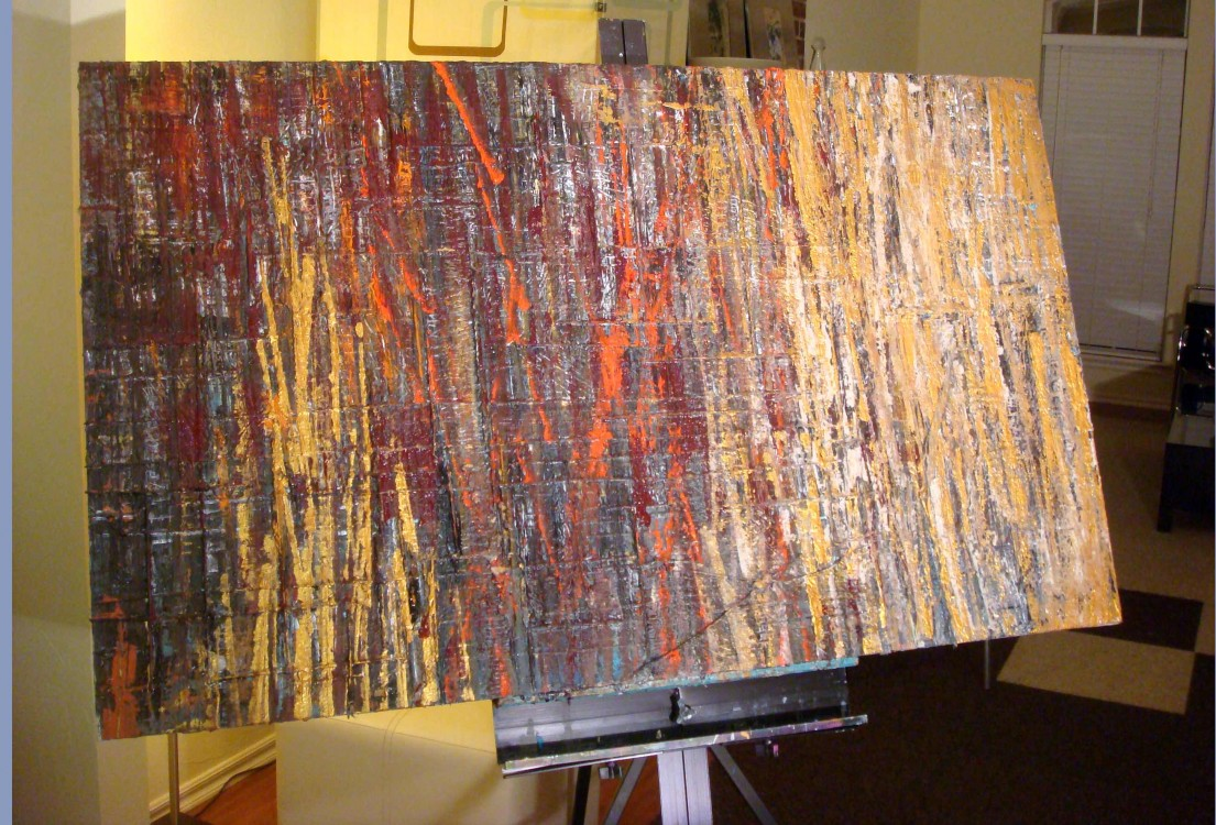 """Rusty Cage"" / Mixed Media / 40"" X 60"" / 2012 / $1500"