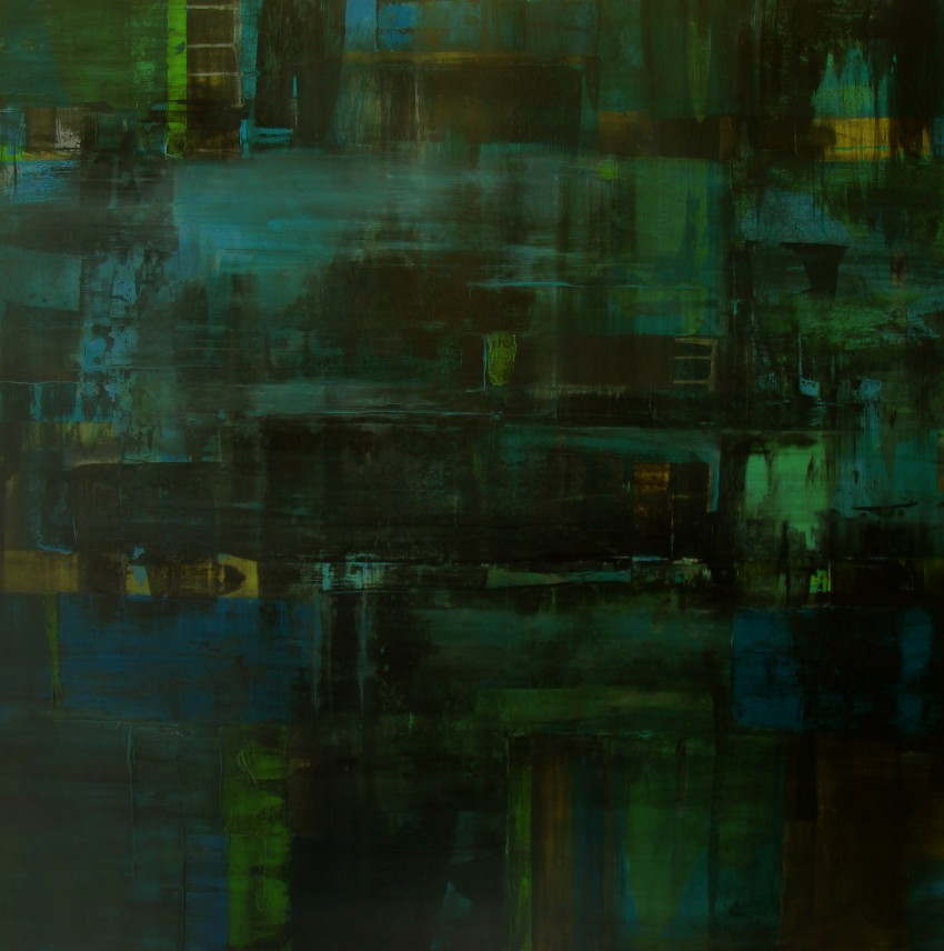 Another view of Nocturne | 4' X 4' | Acrylic | 2011 | $3200