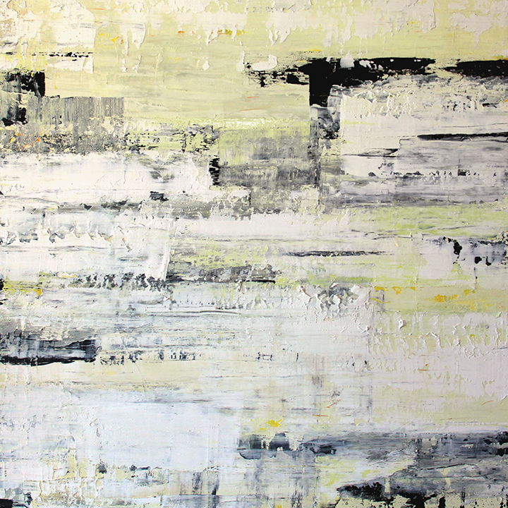 Egress acrylic with resin on wood 48x48 inch by christie owen