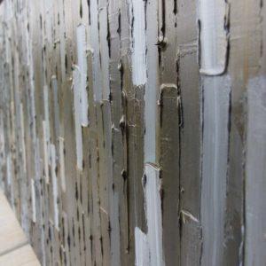 Bridge - inset -Acrylic on birch panel by Christie Owen