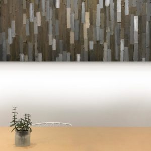 Bridge - installed 2 -Acrylic on birch panel by Christie Owen