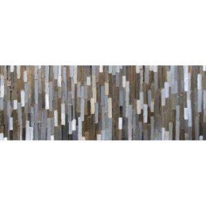 Bridge - installed 2-Acrylic on birch panel by Christie Owen