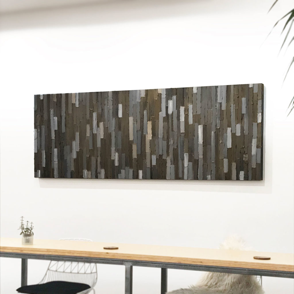 Bridge - installed -Acrylic on birch panel by ChristieOwen