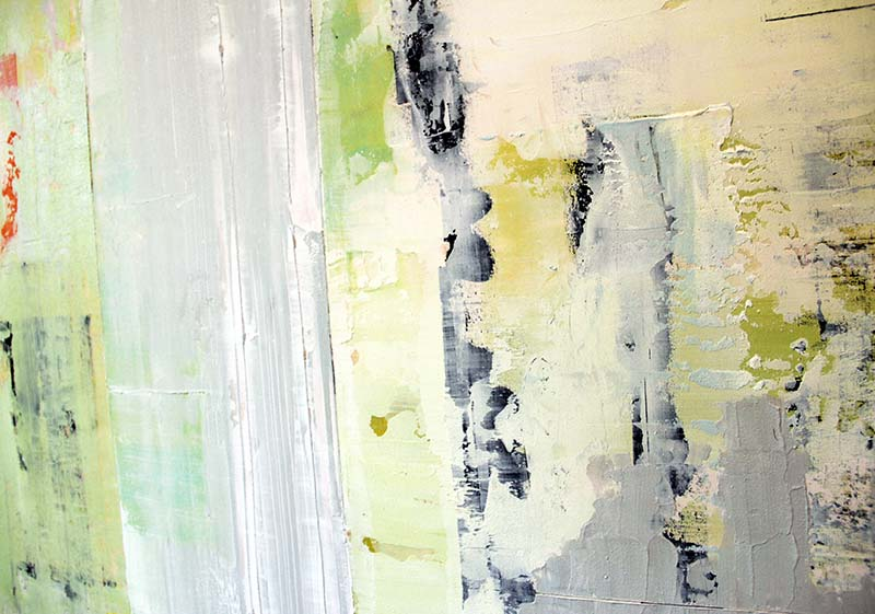 Brighton Beach -inset - 48x48 - Acrylic on birch panel by christie owen