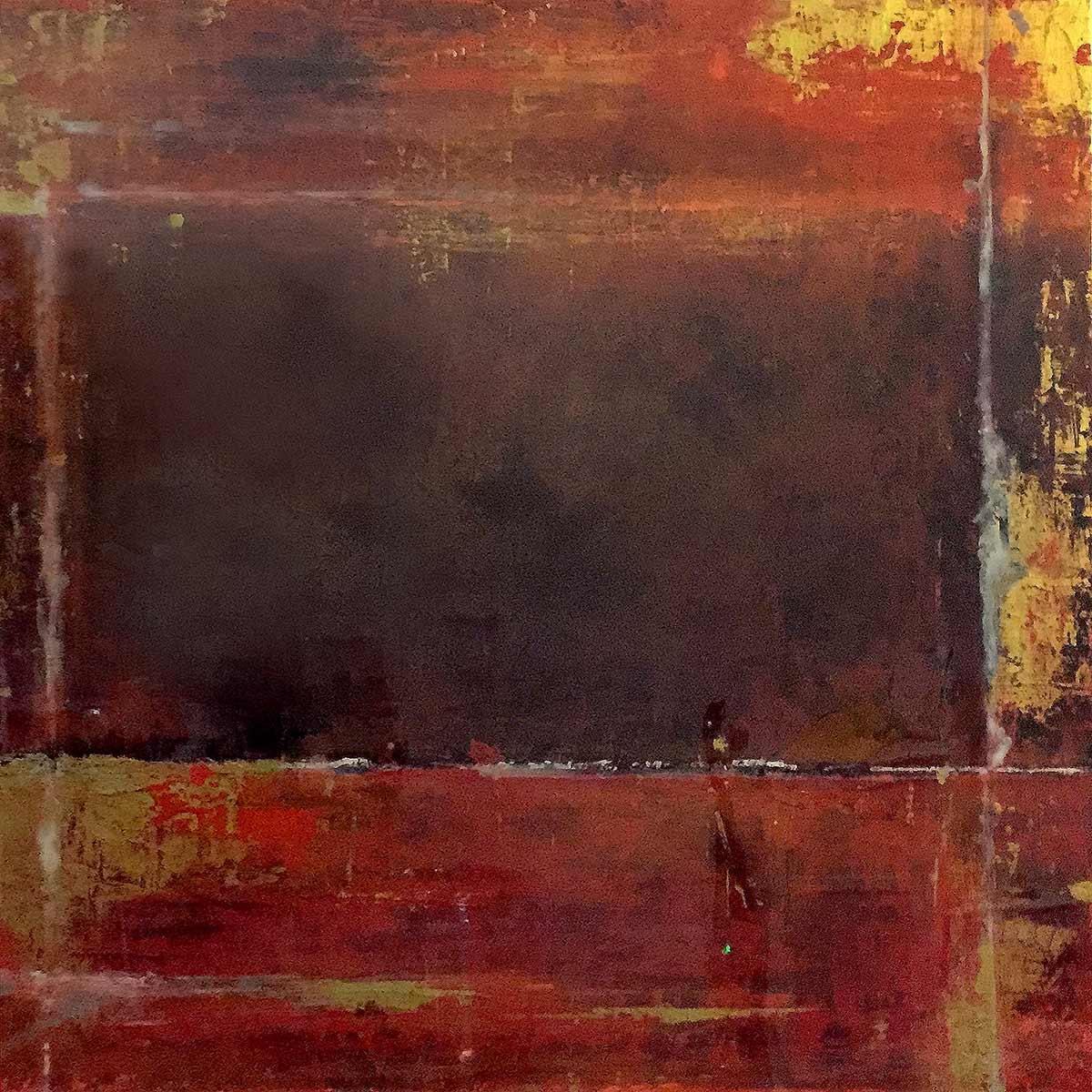 wine rust Acrylic and resin on Canvas - Christie Owen